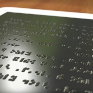 Ecco il tabletconschermobraille per non vedenti