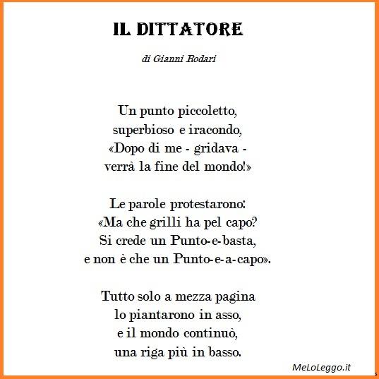 Sempre Gianni Rodari, questa VOLTA DUE POESIE E UNA TELEGRAFICA MA ...
