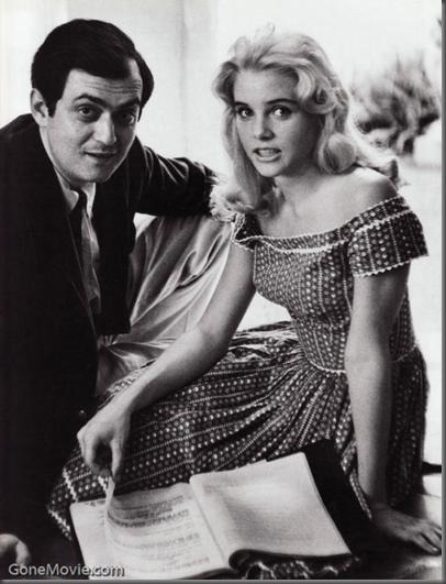 Stanley Kubrick e Sue Lyon durante le riprese del film