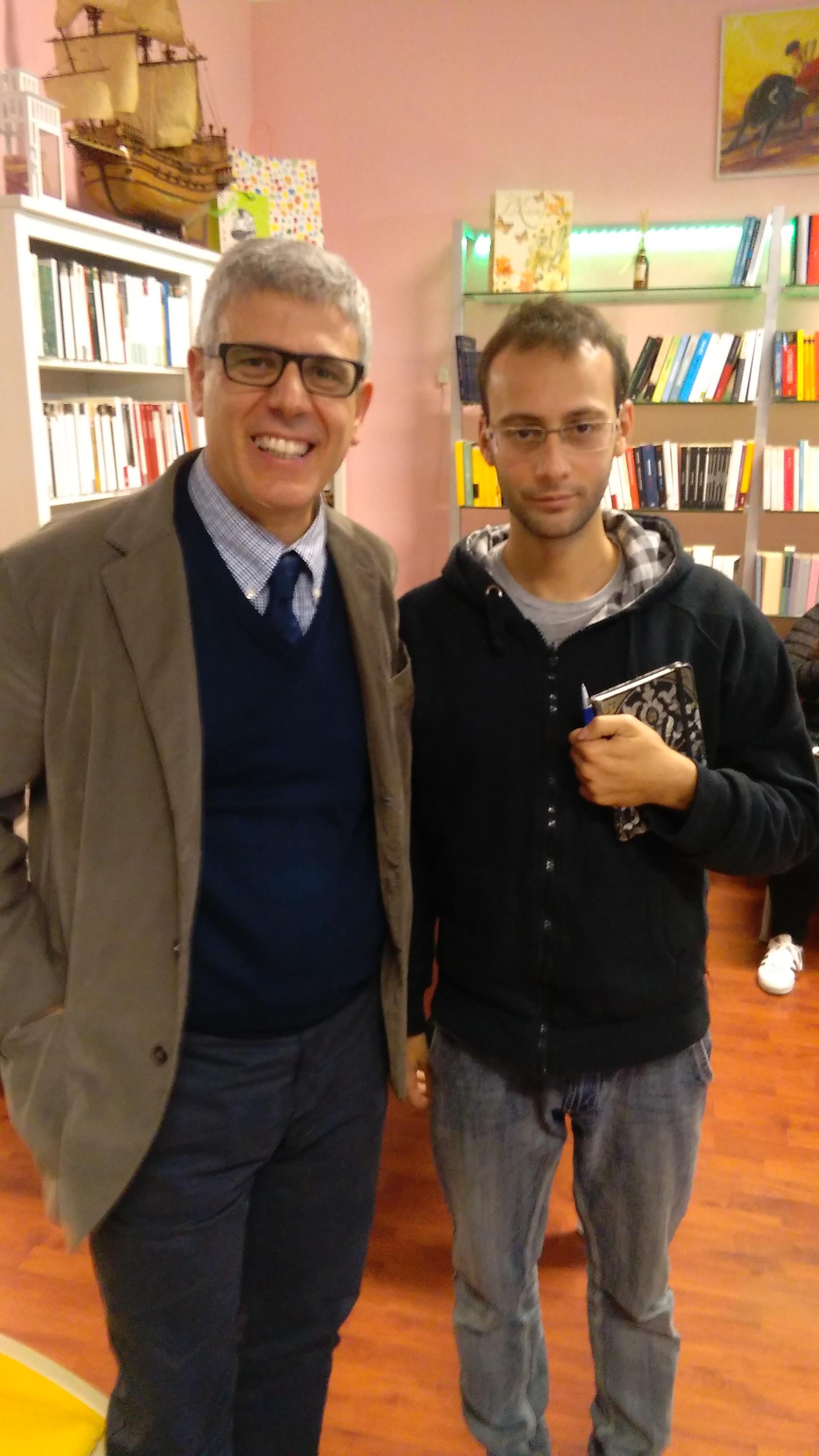 Giuseppe Lupo insieme a Gabriele Scandolaro